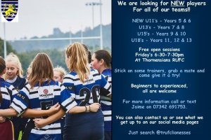 International Women's Day - Get involved in Rugby…